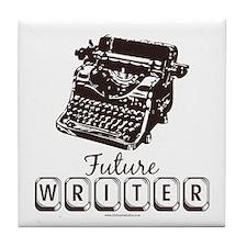 Future Writer Aspring Author Tile Coaster