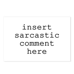 Sarcastic Comment Postcards (Package of 8)