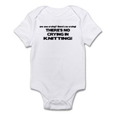 There's No Crying in Knitting Infant Bodysuit