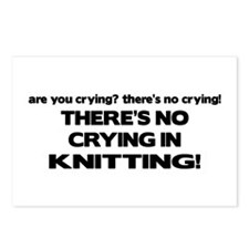 There's No Crying in Knitting Postcards (Package o