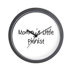 Mommy's Little Pianist Wall Clock