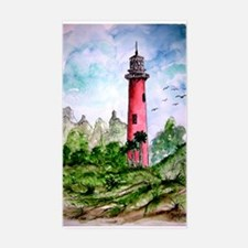 jupiter florida lighthouse fi Rectangle Decal