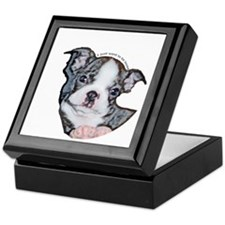 Boston Terrier Puppy Keepsake Box
