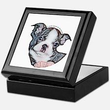 Boston Terrier Puppy Keepsake Box