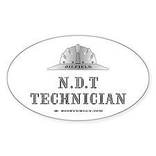 N.D.T Technician Oval Decal