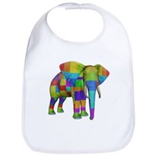 Rainbow Elephant Bib