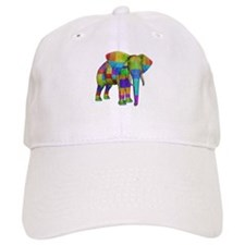 Rainbow Elephant Baseball Cap