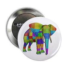 """Rainbow Elephant 2.25"""" Button"""