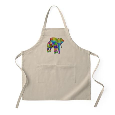Rainbow Elephant BBQ Apron