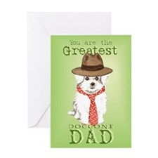 Maltese I Love Dad Greeting Card