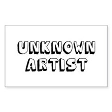 Unknown Artist Rectangle Decal