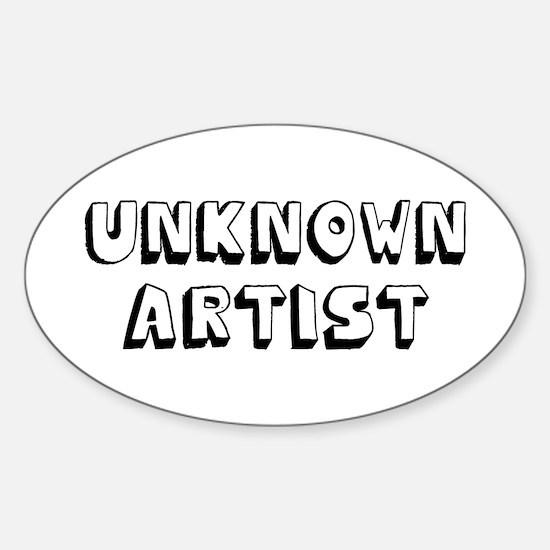 Unknown Artist Sticker (Oval)