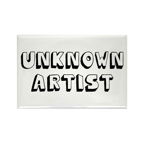 Unknown Artist Rectangle Magnet