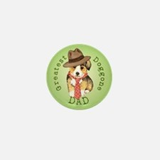 Welsh Corgi Dad Mini Button
