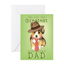 Welsh Corgi I Love Dad Greeting Card