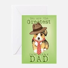 Welsh Corgi Father's Day Greeting Card