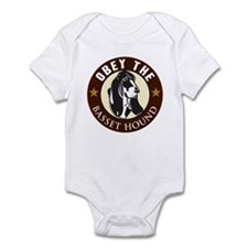 Obey The Basset Hound Infant Bodysuit