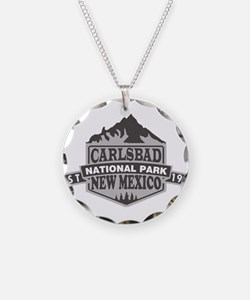 Carlsbad Caverns - New Mexic Necklace Circle Charm