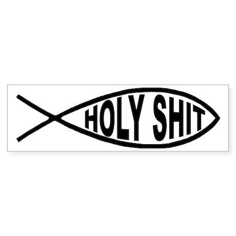 Holy Shit Fish Bumper Sticker