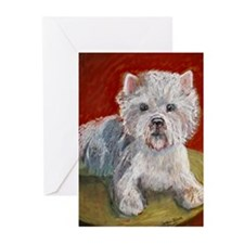 West Highland Terrier Greeting Cards (Pk of 10