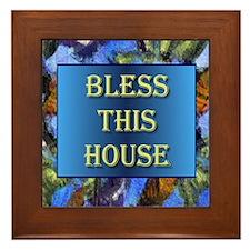 Bless this House Framed Tile