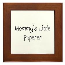 Mommy's Little Paperer Framed Tile