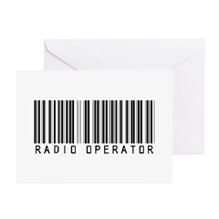 Radio Operator Barcode Greeting Cards (Pk of 10)
