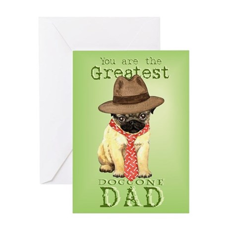 Pug Father's Day Greeting Card