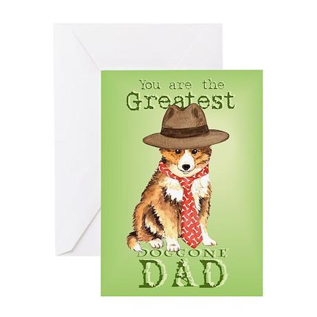 Sheltie I Love Dad Greeting Card