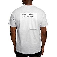 Father of Twins, I'm the Man F/BK Ash Grey T-Shirt