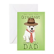 Westie Dad Greeting Card