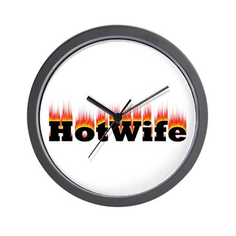 Flaming Hotwife Wall Clock