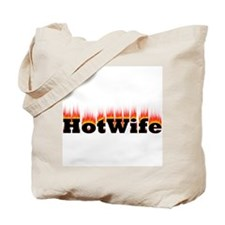 Flaming Hotwife Tote Bag