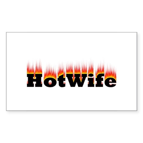 Flaming Hotwife Rectangle Sticker
