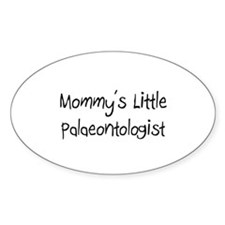 Mommy's Little Palaeontologist Oval Decal