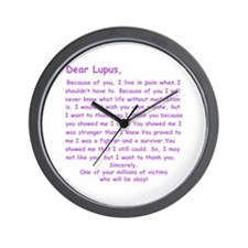 Dear Lupus Wall Clock