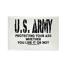 US ARMY PROTECTING YOUR ASS Rectangle Magnet