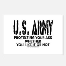 US ARMY PROTECTING YOUR ASS Postcards (Package of