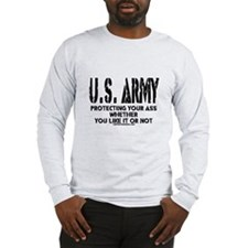 US ARMY PROTECTING YOUR ASS Long Sleeve T-Shirt