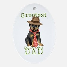 Rottweiler Dad Oval Ornament