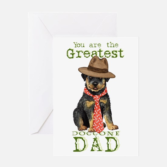 Rottweiler Father's Day Greeting Card