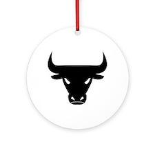 Black Bull Ornament (Round)