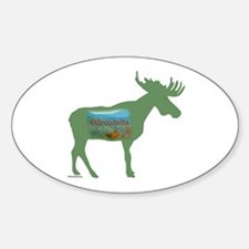 Adirondacks Moose Oval Decal