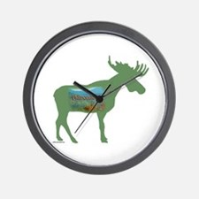 Adirondacks Moose Wall Clock