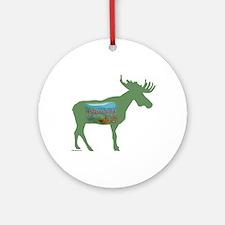 Adirondacks Moose Ornament (Round)