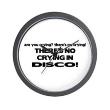 There's No Crying Disco Wall Clock