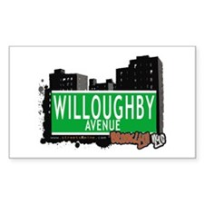 WILLOUGHBY AVENUE, BROOKLYN, NYC Decal