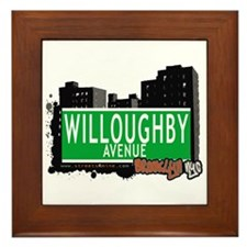 WILLOUGHBY AVENUE, BROOKLYN, NYC Framed Tile