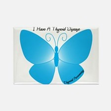 I Have A Thyroid Disease - Bu Rectangle Magnet