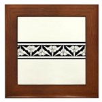 Origami Border Framed Tile